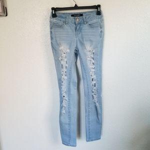 Wax Jeans Distressed Skinny